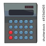 cartoon image of calculator...