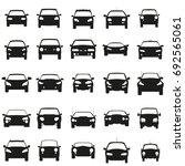 Stock vector face cars set vector illustration black icons on white background 692565061