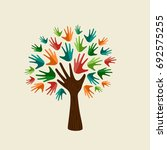 tree symbol with colorful human ... | Shutterstock .eps vector #692575255