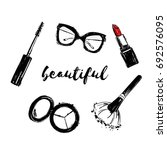vector fashion black and white... | Shutterstock .eps vector #692576095