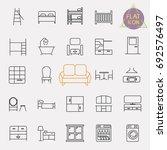 interiors furniture line icon... | Shutterstock .eps vector #692576497