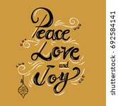 peace love and joy christmas... | Shutterstock .eps vector #692584141