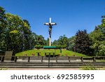 indian river  michigan  usa  ... | Shutterstock . vector #692585995