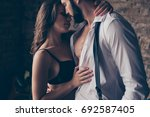 pure seduction. cropped close... | Shutterstock . vector #692587405
