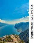 view garda lake from bocca... | Shutterstock . vector #692591515
