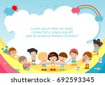 back to school  kids school ... | Shutterstock .eps vector #692593345