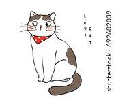 vector illustration character... | Shutterstock .eps vector #692602039