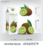 kiwifruit juice packaging... | Shutterstock .eps vector #692605579