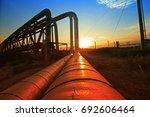 oil pipeline  the oil industry... | Shutterstock . vector #692606464