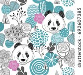 colorful seamless pattern with... | Shutterstock .eps vector #692607385