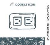 outlet doodle | Shutterstock .eps vector #692609407