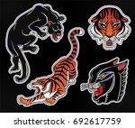 set of wild cat designs....   Shutterstock .eps vector #692617759