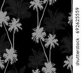 seamless vector monochrome... | Shutterstock .eps vector #692625559
