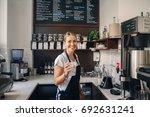 portrait of  happy beautiful... | Shutterstock . vector #692631241