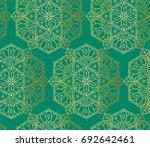 indian seamless pattern... | Shutterstock .eps vector #692642461