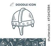 knight helmet doodle | Shutterstock .eps vector #692642884