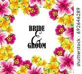 romantic invitation. wedding ... | Shutterstock .eps vector #692646289