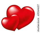 Two Red Heart   Symbol Of Love...