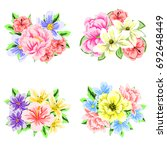 flower set | Shutterstock .eps vector #692648449