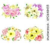 flower set | Shutterstock .eps vector #692648455