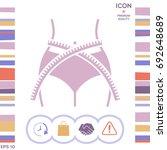 women waist with measuring tape ... | Shutterstock .eps vector #692648689