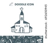 church doodle | Shutterstock .eps vector #692650945