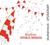 poster or banner indonesian... | Shutterstock .eps vector #692665669