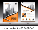 annual report brochure flyer... | Shutterstock .eps vector #692670865