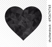 transparent   low poly heart...