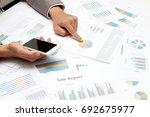businessman making presentation ... | Shutterstock . vector #692675977
