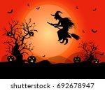 halloween background in vector | Shutterstock .eps vector #692678947