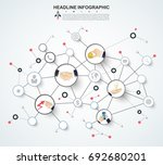 abstract infographics number... | Shutterstock .eps vector #692680201