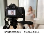 professional digital equipment... | Shutterstock . vector #692685511