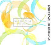 abstract watercolor on white... | Shutterstock .eps vector #692685805