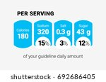 nutrition facts label | Shutterstock .eps vector #692686405