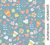 vector seamless pattern for... | Shutterstock .eps vector #692686435