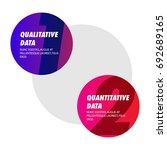 qualitative data versus... | Shutterstock .eps vector #692689165