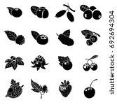 Berries Icons Set. Simple...