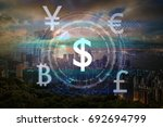 the financial technology or... | Shutterstock . vector #692694799