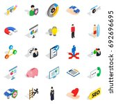 new workforce icons set.... | Shutterstock .eps vector #692696695