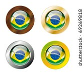 brazil shiny buttons flag with... | Shutterstock .eps vector #69269818