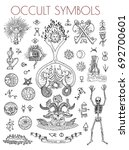 graphic set with esoteric... | Shutterstock .eps vector #692700601
