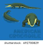 american crocodile cartoon... | Shutterstock .eps vector #692700829