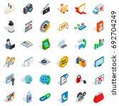 www design icons set. isometric ... | Shutterstock .eps vector #692704249