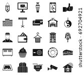 lodge icons set. simple set of... | Shutterstock .eps vector #692704921
