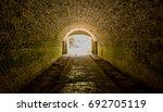 underground tunnel in lost forth | Shutterstock . vector #692705119