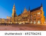 night panorama of marienplatz... | Shutterstock . vector #692706241