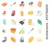 grange icons set. cartoon set... | Shutterstock .eps vector #692706604