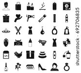 woman thing icons set. simple... | Shutterstock .eps vector #692706835