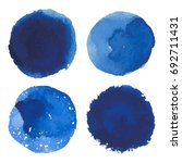 set of vector watercolor blue... | Shutterstock .eps vector #692711431